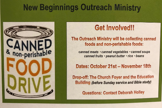 Outreach Canned Food Drive