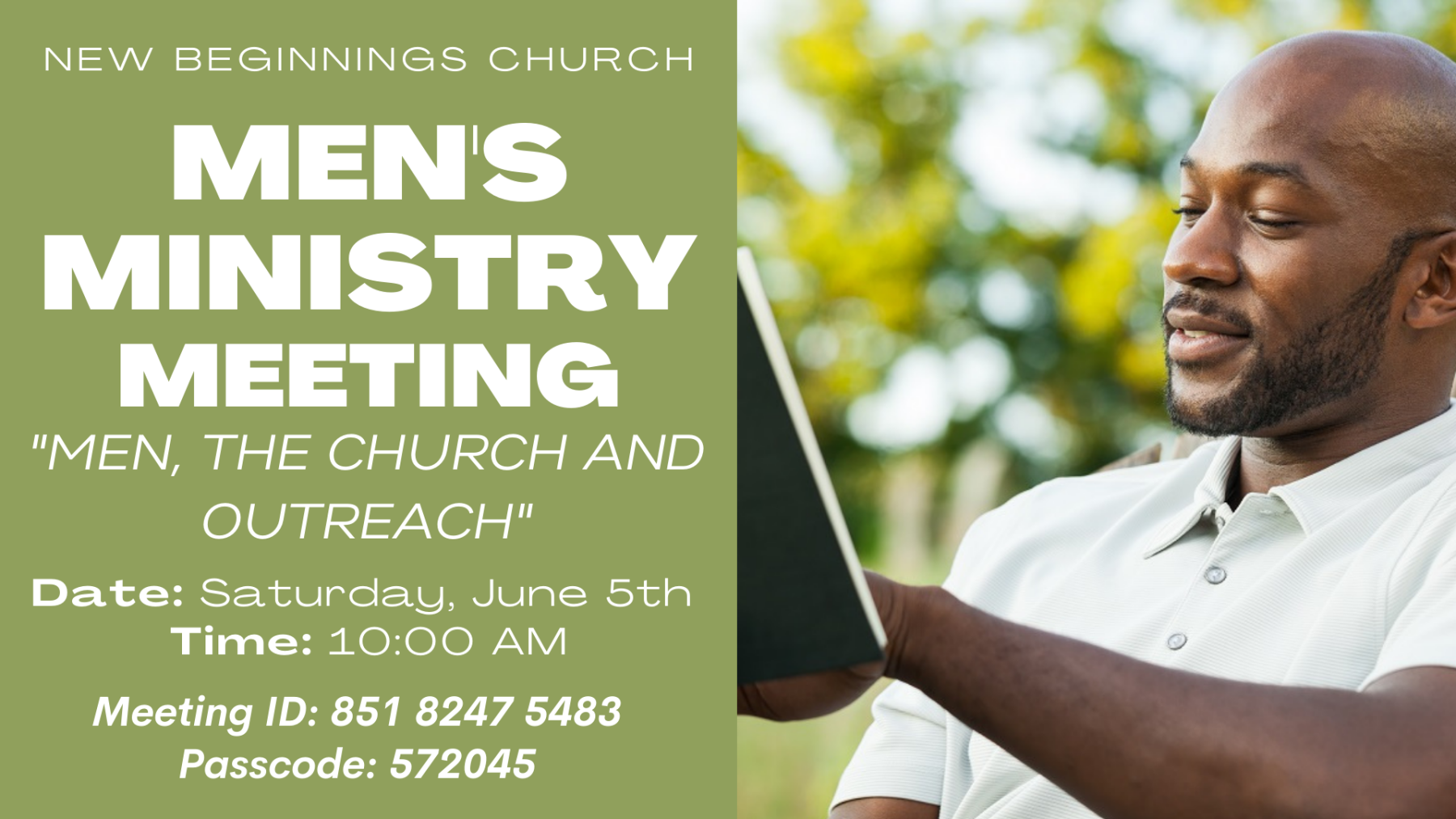 Men's Monthly Ministry Meeting